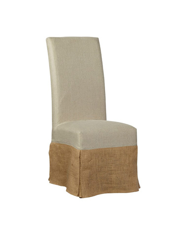 Furniture Classics Limited - Burlap Slip Covered Parsons Chair - 70018B