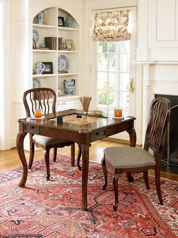 Fine Furniture Design - Carved Back Dining Side Chair - 1344-820