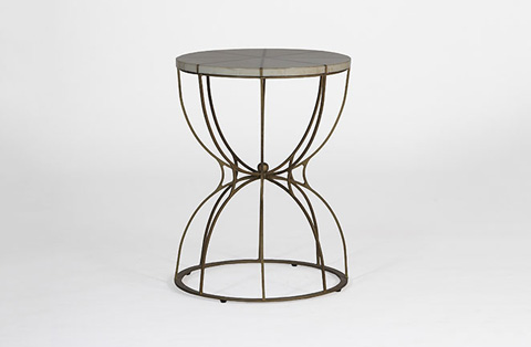 Gabby Home - Gabbert Transitional Round End Table - SCH-270190