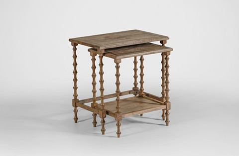 Gabby Home - Lionel Oak Nesting Tables - SCH-151305