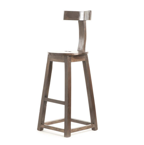 Image of Rustic Wooden Barstool