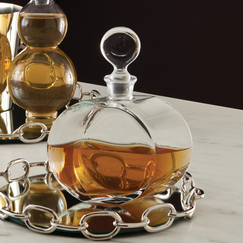 Global Views - Round Glass Decanter - 1255