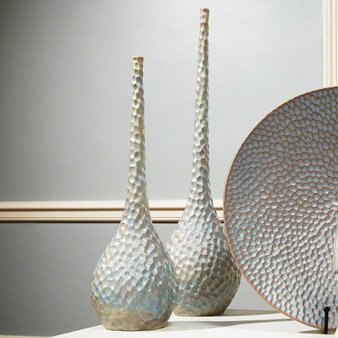 Global Views - Small Chiseled Bird's Egg Vase - 1624
