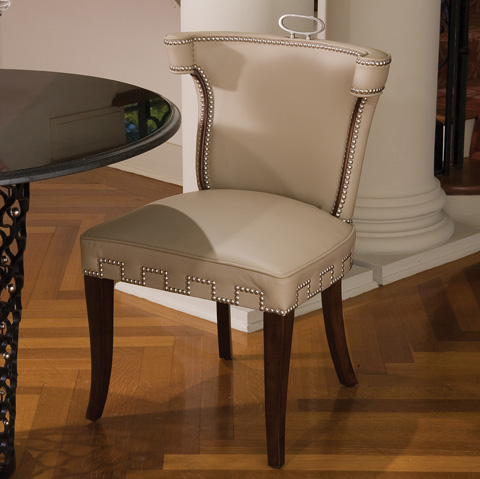 Global Views - Beige Leather Casino Chair - 2256