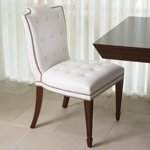Global Views - White Atlanta Chair - 2316