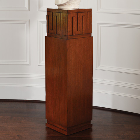 Global Views - Dark Oak French Key Pedestal - 2373