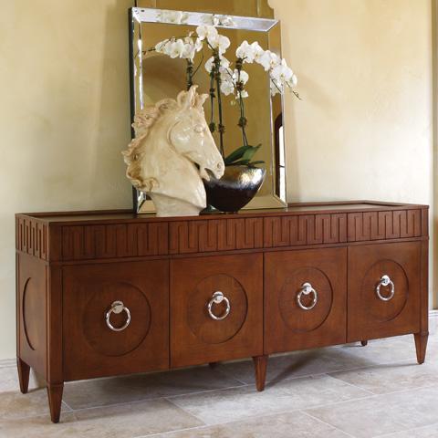 Image of Dark Oak French Key Everything Cabinet