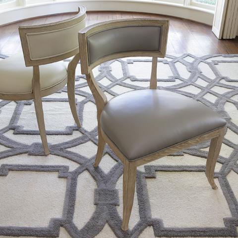 Global Views - Grey Leather Klismos Chair - 2426