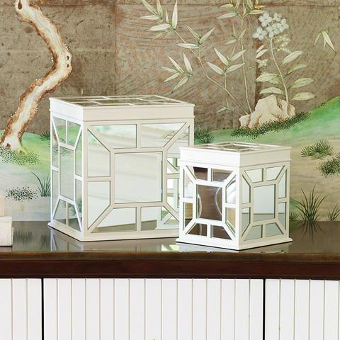 Global Views - Large White Ariana Box - 4.80122