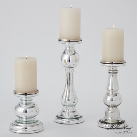 Global Views - Mercury Glass Britannia Candle Holder - 4.90056