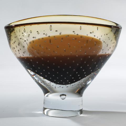 Global Views - Amber Bubble Bowl - 6.60094