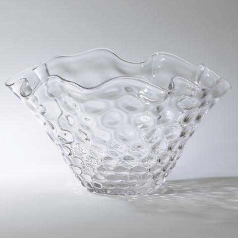 Global Views - Honeycomb Optic Wavy Bowl - 6.60116