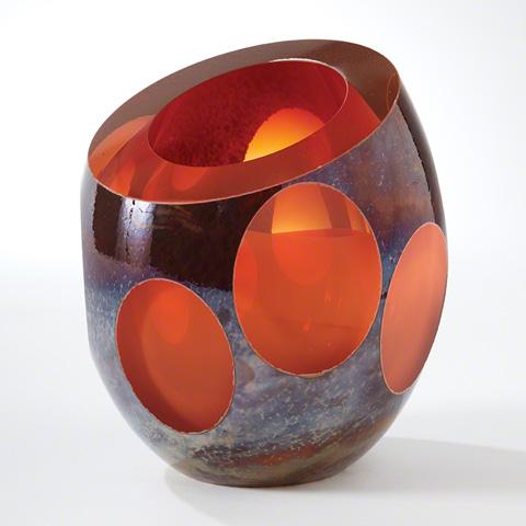 Global Views - Red Molten Jewel Vase - 6.60132