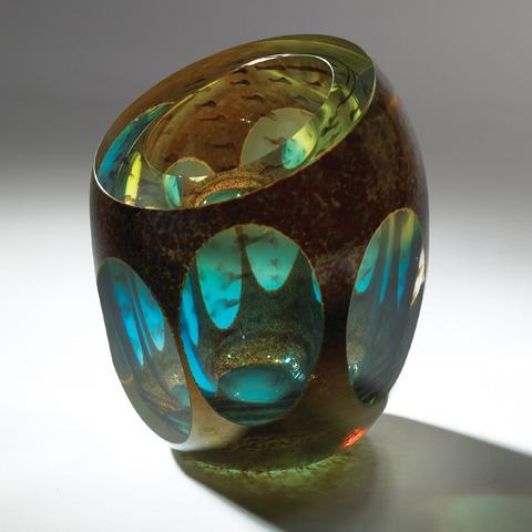 Global Views - Aqua Molten Jewel Vase - 6.60137