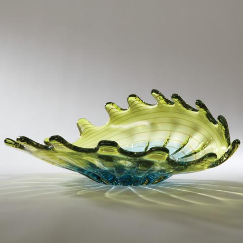 Global Views - Aqua Lime Venus Bowl - 6.60179