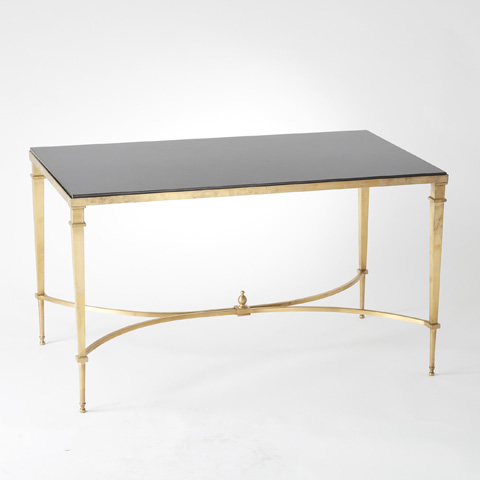 Global Views - Brass & Black Granite Cocktail Table - 8.80035