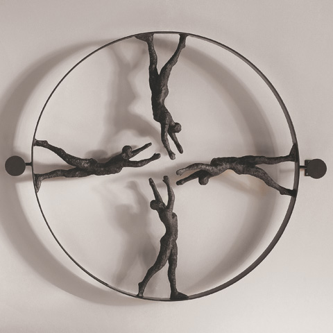 Global Views - Reaching For Center Panel Wall Sculpture - 8.80515