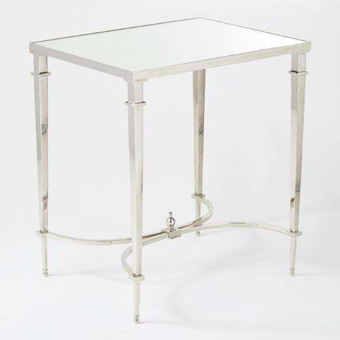 Global Views - Nickel & Mirror French Square Leg Table - 8.80603