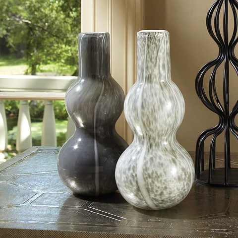 Global Views - Light Grey Two Bubble Vase - 8.81574