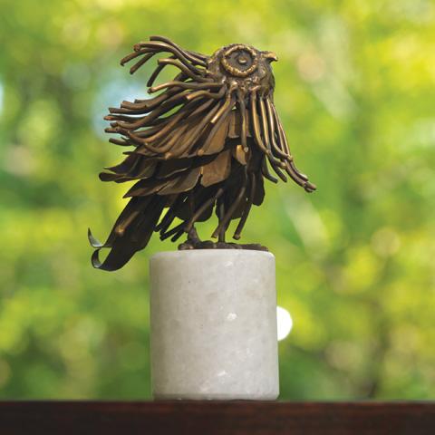 Global Views - Brass Mod Owl Sculpture - 8.81584