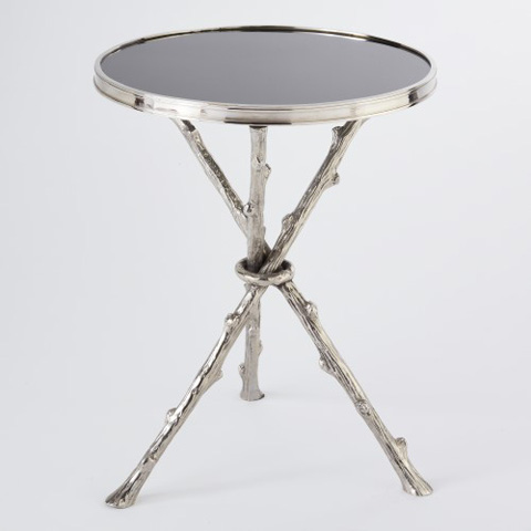 Image of Nickel & Black Granite Twig Table