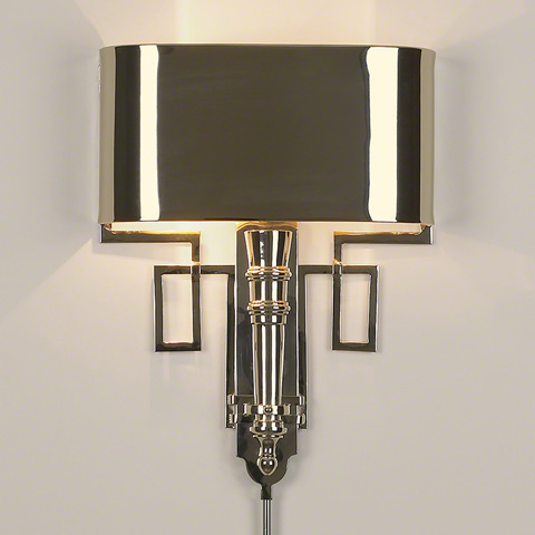 Global Views - Nickel Torch Sconce with Shade - 9.90650