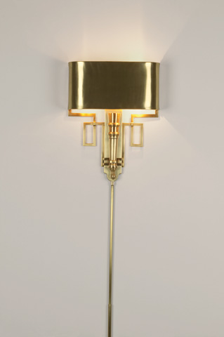 Global Views - Hardwired Antique Brass Torch Sconce - 9.90651-HW