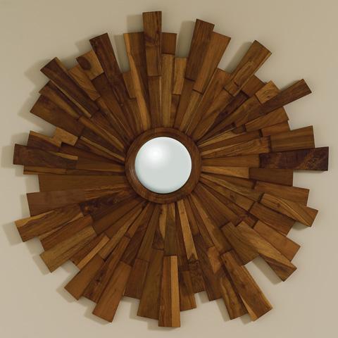 Global Views - Industrial Wooden Mirror - 9.90855