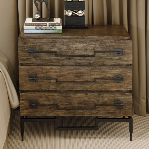 Global Views - Dark Brushed Mango 3 Drawer Wide Chest - 9.91024