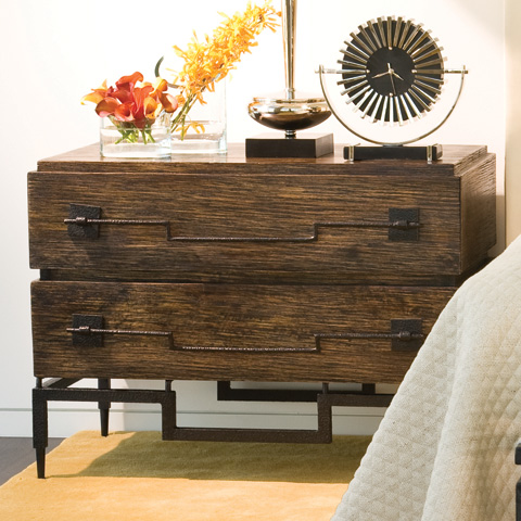 Global Views - Dark Brushed Mango 2 Drawer Wide Chest - 9.91025
