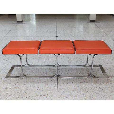 Global Views - Orange Airline Bench - 9.91555