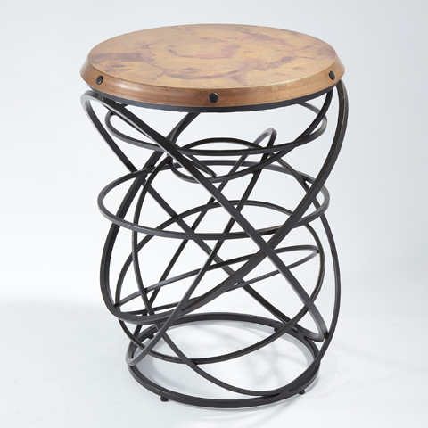 Global Views - Rustic Copper Top Ring Table - 9.91827