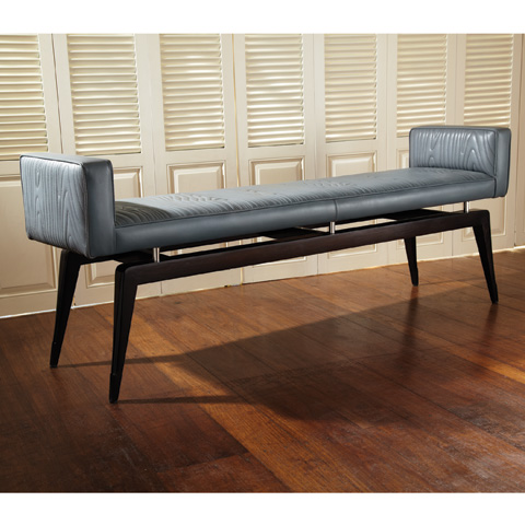 Global Views - Grey Faux Bois City Bench - 9.91847