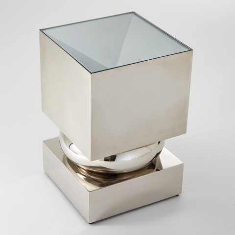 Global Views - Nickel Squeeze Accent Table - 9.92221
