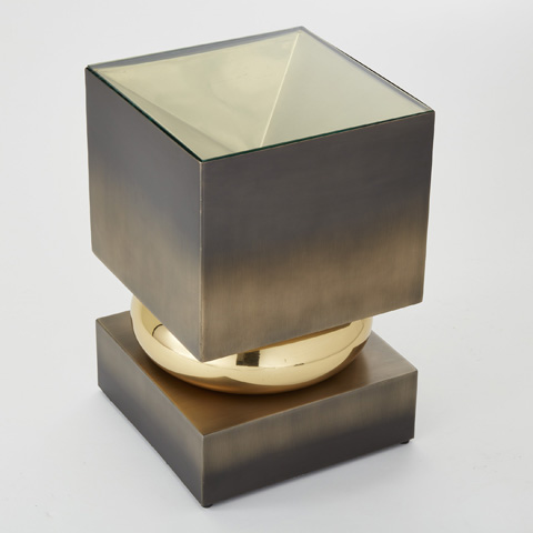 Global Views - Bronze Squeeze Accent Table - 9.92222