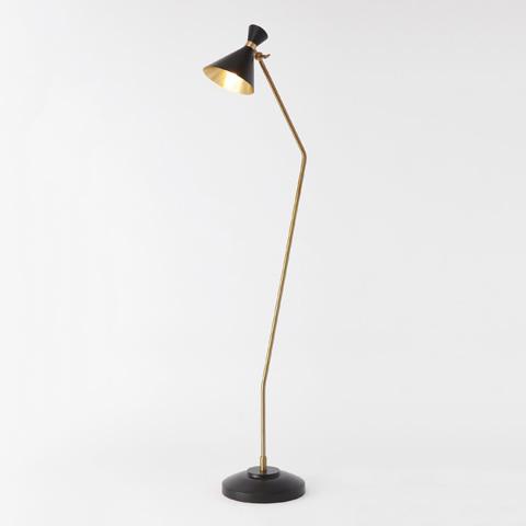 Global Views - Bronze Brass Cone Floor Lamp - D9.90038