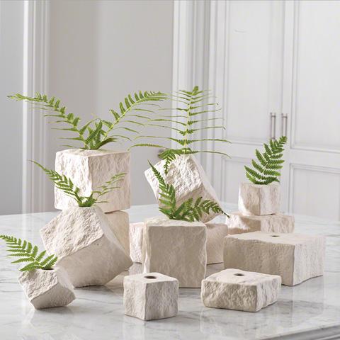 Global Views - Rocky Block Vase - 1.10000
