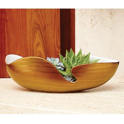 Global Views - Golden Stripe Bowl - 1.10252