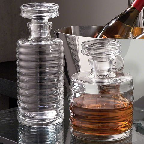 Global Views - Ribbed Decanter - 1607