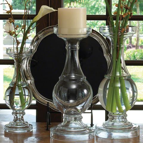 Global Views - Glass Balustrade Candleholder - 1712