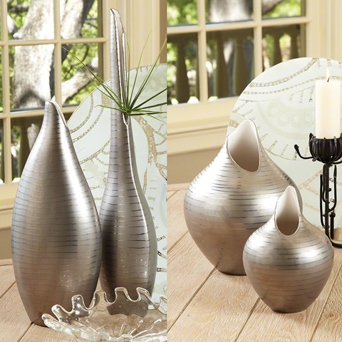 Global Views - Platinum Stripe Vase - 1937