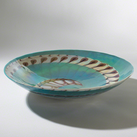 Global Views - Turquoise Swirl Centerpiece - 3.30710
