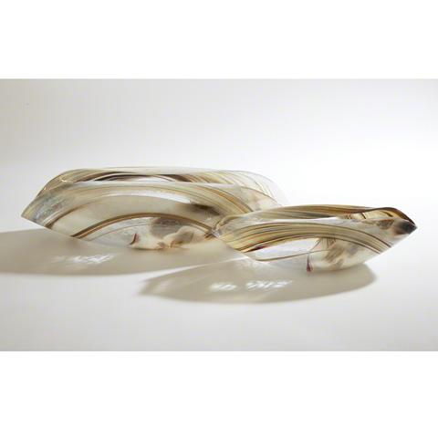 Global Views - Ivory Spiral Folded Bowl - 3.30980