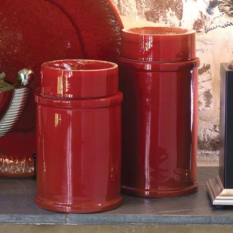Global Views - Red Zinger Jar - 3.31056