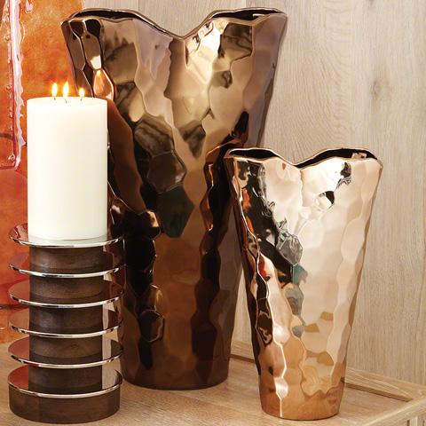 Global Views - Bronze Nugget Vase - 8.81127
