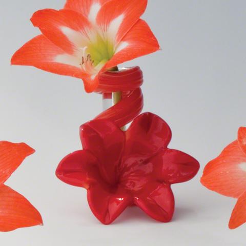 Global Views - Red Lily Bud Vase - 8.81211