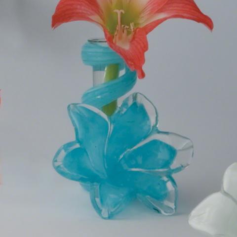 Global Views - Blue Lily Bud Vase - 8.81213