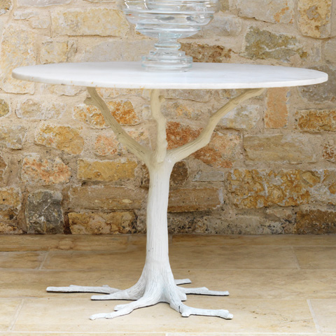 Global Views - White Faux Bois Dining Table - 8.81266