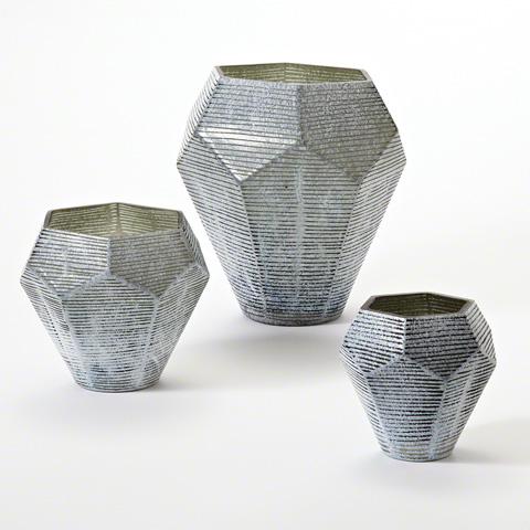 Global Views - Faceted Stria Vase - 8.81984