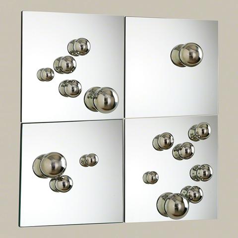 Global Views - Set of 4 Sphere Mirrors - 8.82022